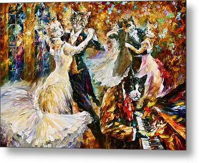 Dance Ball Of Cats  Metal Print by Leonid Afremov
