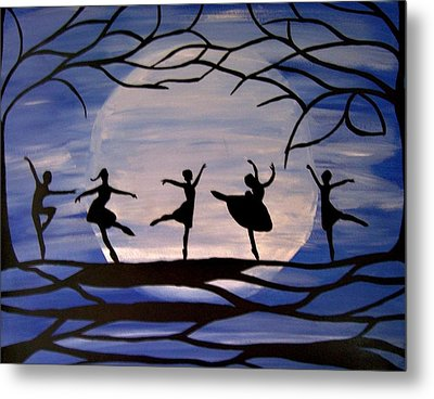 Dance By The Light Of The Moon Metal Print by Rachel Olynuk