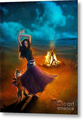 Dance Dervish Fox Metal Print