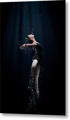 Dance In The Water Metal Print by Semra Halipoglu