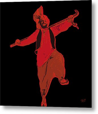 Metal Print featuring the painting Dance Like A Punjabi Man by Nop Briex