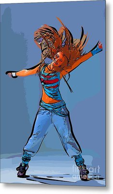 Dance Of Art 97 Metal Print by College Town
