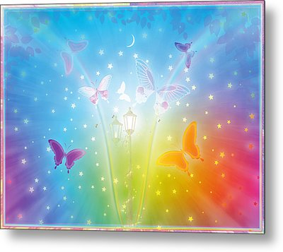Dance Of Butterflies Metal Print