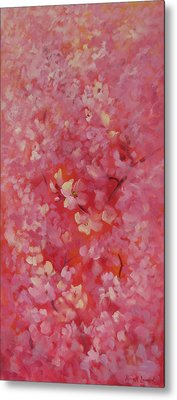 Dance Of The Cherry Blossoms Metal Print by Karin  Leonard
