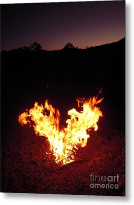 Metal Print featuring the photograph Fire In Your Heart by Ankya Klay
