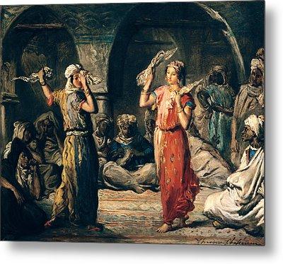 Dance Of The Handkerchiefs, 1849 Oil On Panel Metal Print