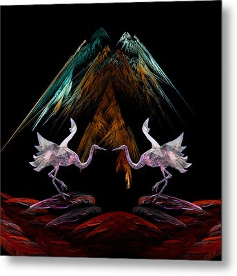 Dance Of The Paper Cranes Metal Print by Kathleen Holley