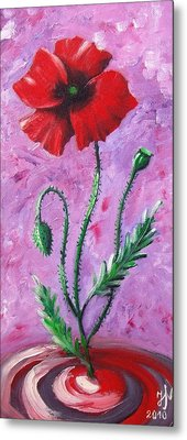 Dance Of The Poppy Metal Print