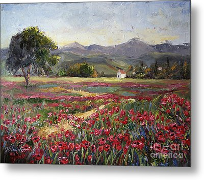 Dance Of The Tulips Metal Print by Jennifer Beaudet