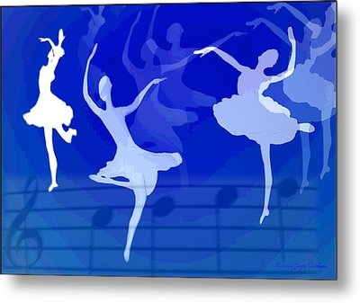 Dance The Blues Away Metal Print by Joyce Dickens
