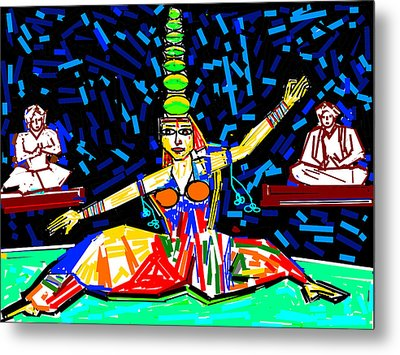 Dance With Pots Metal Print by Anand Swaroop Manchiraju