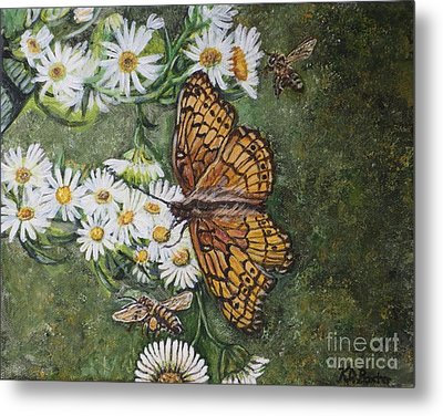 Metal Print featuring the painting Dance With The Daisies by Kimberlee Baxter