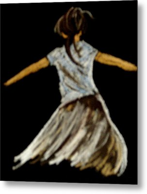 Metal Print featuring the drawing Dancer 2 by Joseph Hawkins