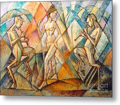 Dancer And Playing Fauna Metal Print by Pg Reproductions