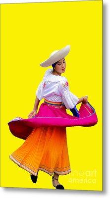 Dancer At Pase Del Nino In Cuenca Ecuador Metal Print by Al Bourassa