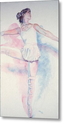 Dancer In Shades Of White Metal Print by Dan Terry