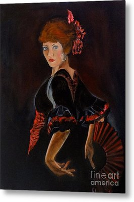 Metal Print featuring the painting Dancer by Jenny Lee