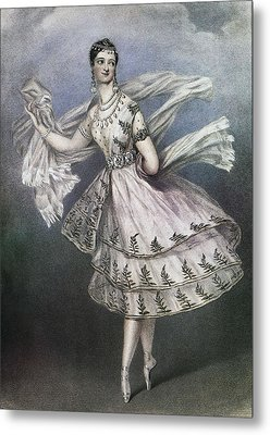 Dancer Maria Taglioni In The Ballet Le Metal Print by Everett
