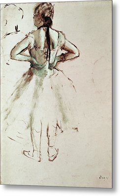 Dancer Viewed From The Back Metal Print by Edgar Degas