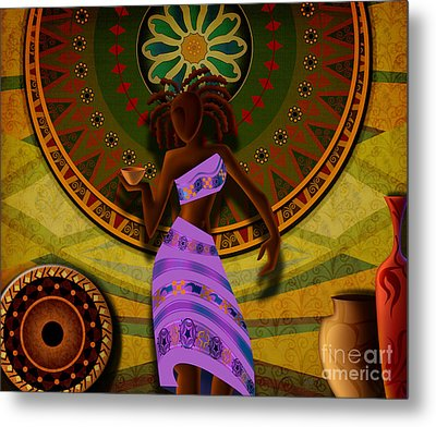 Dancer With Cup Metal Print by Bedros Awak