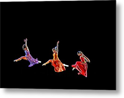 Dancers In Flight Metal Print