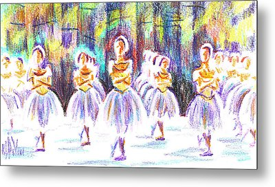 Dancers In The Forest II Metal Print by Kip DeVore