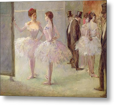 Dancers In The Wings At The Opera Metal Print by Jean Louis Forain