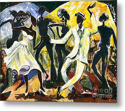 Dancers No. 1 - Saturday Nights Out Metal Print