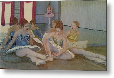 Dancers Take Five Metal Print by ARTography by Pamela Smale Williams