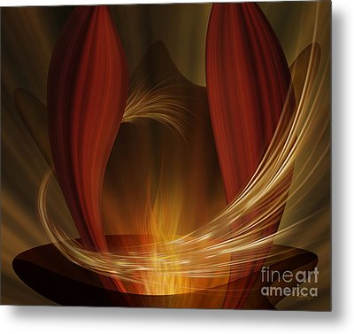Dances With Fire Metal Print by Johnny Hildingsson