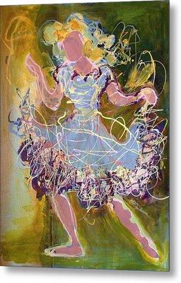 Dancing 1 Metal Print by Marilyn Jacobson