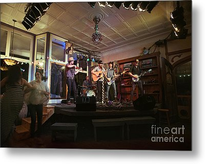 Dancing At The Purple Fiddle With Bryan Elijah Smith And The Wild Heart Band  Metal Print by Dan Friend