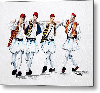 Dancing Evzones Metal Print by Maria Barry