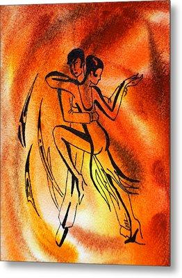 Dancing Fire Iv Metal Print by Irina Sztukowski