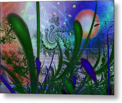 Dancing Fireflies Metal Print by Faye Symons