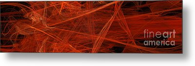 Dancing Flames 1 H - Panorama - Abstract - Fractal Art Metal Print by Andee Design