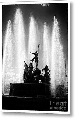 Dancing Fountain Metal Print by John Rizzuto