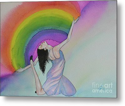 Dancing In Rainbows Metal Print