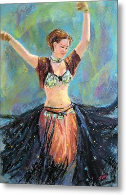 Metal Print featuring the painting Dancing In The Air by Jieming Wang
