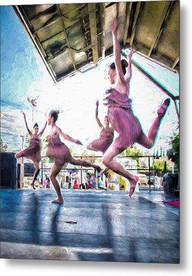 Dancing In The Park Metal Print by Ike Krieger