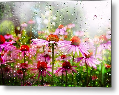 Dancing In The Rain Metal Print by Mary Timman