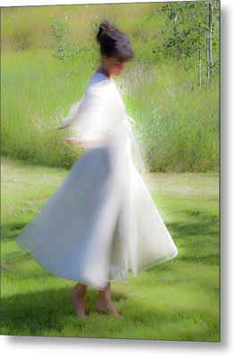 Dancing In The Sun Metal Print by Theresa Tahara