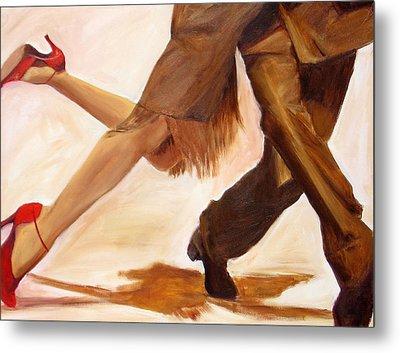 Metal Print featuring the painting Dancing Legs IIi by Sheri  Chakamian