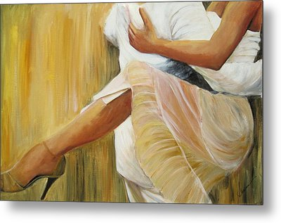 Metal Print featuring the painting Dancing Legs by Sheri  Chakamian