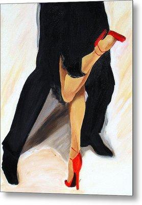 Metal Print featuring the painting Dancing Legs II by Sheri  Chakamian