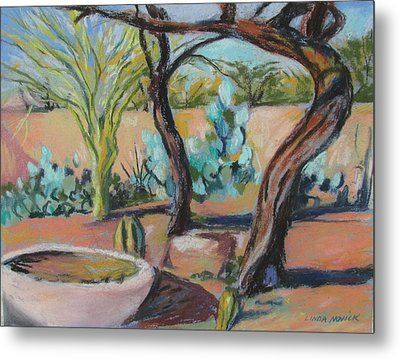 Dancing Mesquite Trees Metal Print by Linda Novick