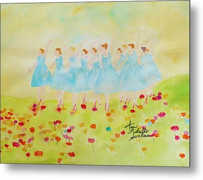 Dancing On Top Of The Flowers Metal Print by Ann Michelle Swadener