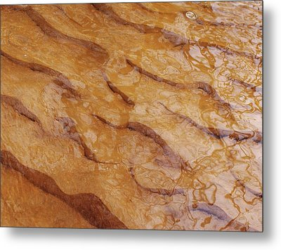 Dancing Reflections Over Ripples Metal Print by Kathi Mirto