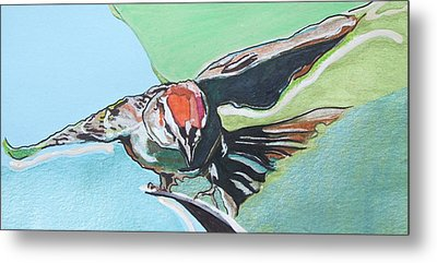 Dancing Sparrow Metal Print