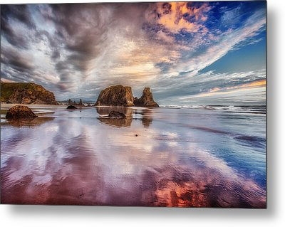 Dancing Sunset Metal Print by Darren  White